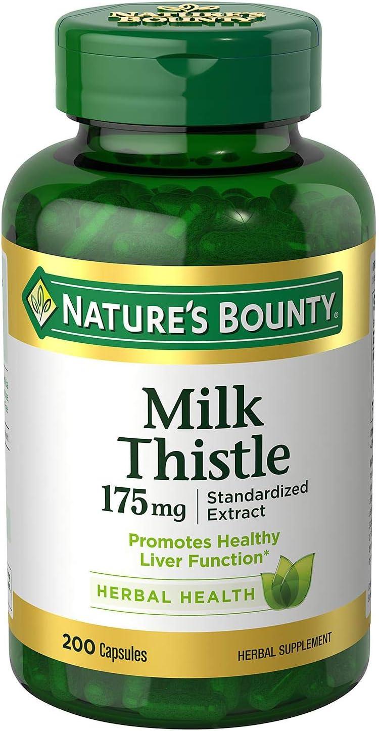 Natures bounty milk thistle 175mg 200 ca…