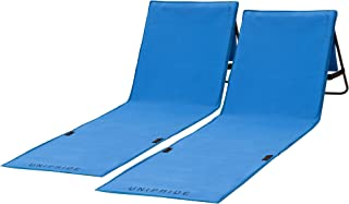 Two Beach Chairs with Backrest - 2-Pack Lounger - Comfortable, Lightweight, Portable and Easy to Carry Around - Use Also A...