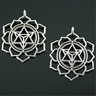 NEWME 12pcs Mandala Pattern Charms Pendant For DIY Jewelry Wholesale Crafting Bracelet and Necklace Making
