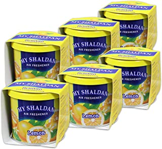Pack of 6 My Shaldan Japanese Car Cup-Holder Natural Air Freshener Cans (Lemon Scented)