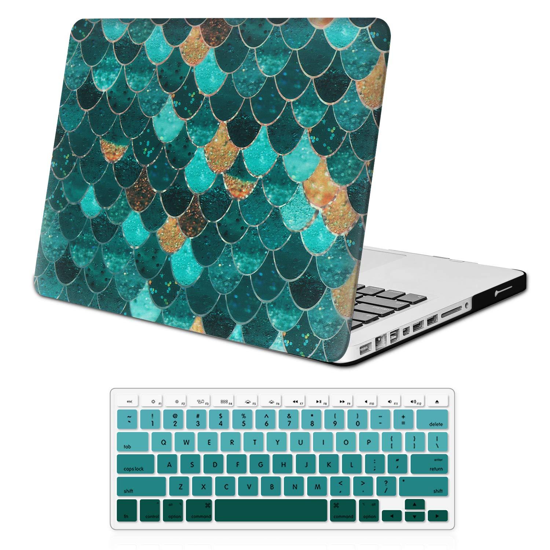 Estuche Holilife para el MacBook Old Pro de 13 pulgadas, cubierta ultra delgada de plástico suave y suave al tacto para el MacBook Pro de 13 pulgadas (Modelo: A1278,), Mermaid Scale: Amazon.es: