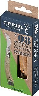 Opinel - N°08 Champignon Boîte Individuelle - Couteau Champignon Brosse Poil de Sanglier - Couteau Champignons en INOX Man...