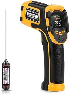 Thermomètre Infrarouge Pistolet de Température Laser Numérique Sans Contact -58°F~1112°F (-50°C~600°C) Emissivité Réglable...