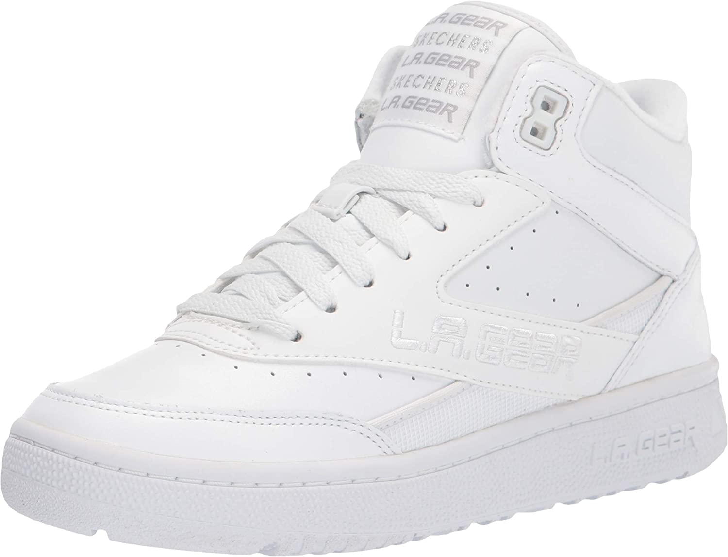 Skechers Womens L.A. Gear-Hot Shots Leather High-Top Fashion Sneakers