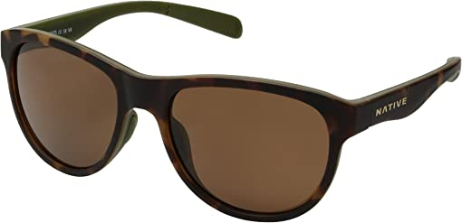 Matte Dark Tort/Brown Polarized Lens