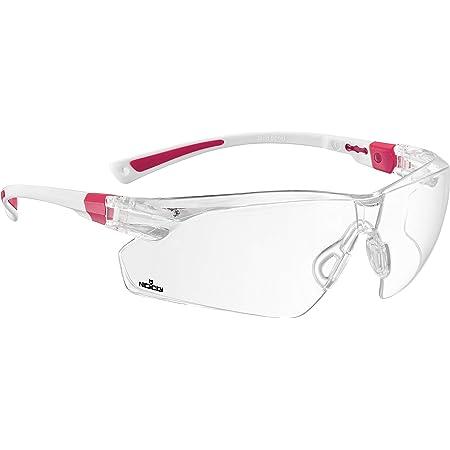 NoCry Schutzbrille mit durchsichtigen Anti-Beschlag und kratzbeständigen Gläsern, Seitenschutz und rutschfesten Bügeln, UV-Schutz, verstellbar