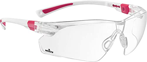 NoCry Safety Glasses with Clear Anti Fog Scratch Resistant Wrap-Around Lenses and No-Slip Grips, UV Protection. Adjus...