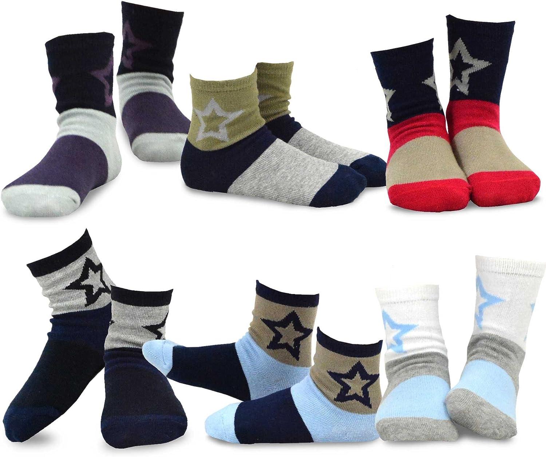 TeeHee Little Boys Deluxe Fashion Fun Cotton Pair Pack 12 6 Crew Socks famous