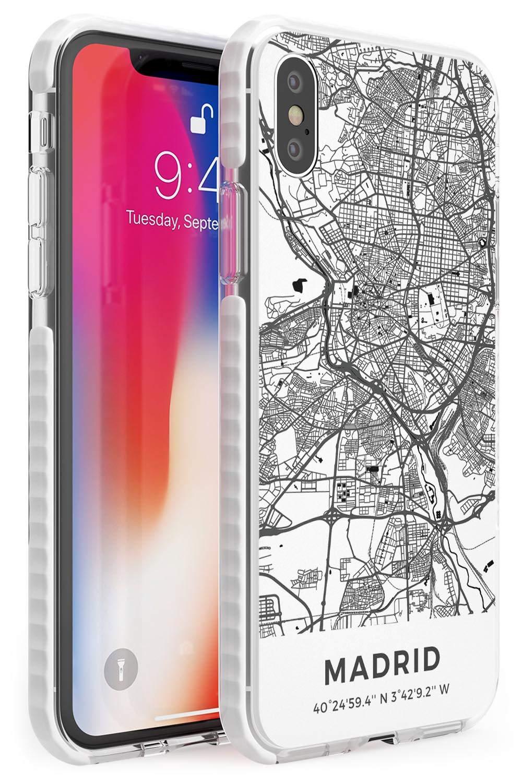 Case Warehouse Mapa de Madrid, España Impact Funda para iPhone XS TPU Protector Ligero Phone Protectora con Viaje Pasión De Viajar Europa Ciudad Calles: Amazon.es: Electrónica