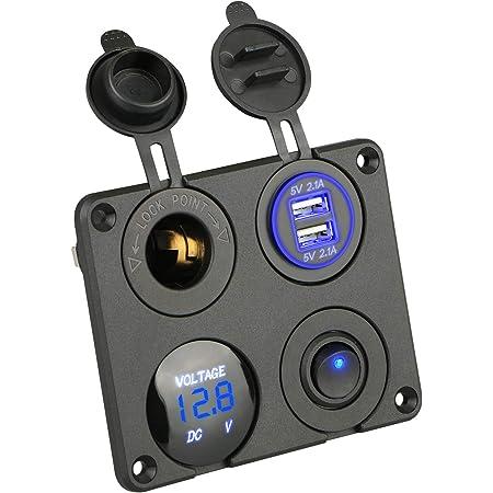 Thlevel Dual Usb Ladegerät Schalter Panel 4 In 1 Auto Elektronik
