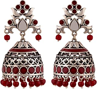 Voylla Rangabati Cutwork And Beads Earrings Jewellery For Women