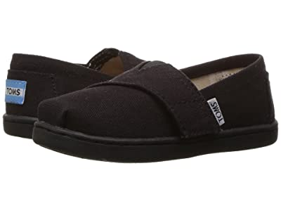 TOMS Kids Alpargata 2.0 (Infant/Toddler/Little Kid) (Black Canvas) Kid