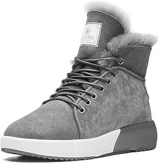Aumu Sheepskin Taurus Series Couple Adjustable Short Fur Wool Ankle Snow Winter Boots