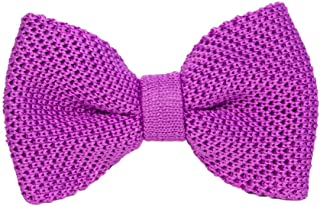 40 Colori - Papillon a maglia tinta unita in pura seta