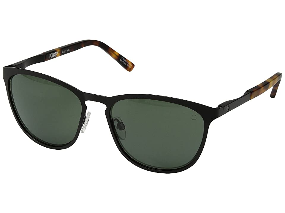 Spy Optic Cliffside (Matte Black/Matte Honey Tort/Happy Gray Green) Sport Sunglasses