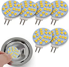 JAUHOFOGEI G4 Disc LED Bulbs 12V AC/ 10-24V DC, 20W Type T3 Glass Halogen Bulb Replacement Bi Pin Base for Recessed Puck L...