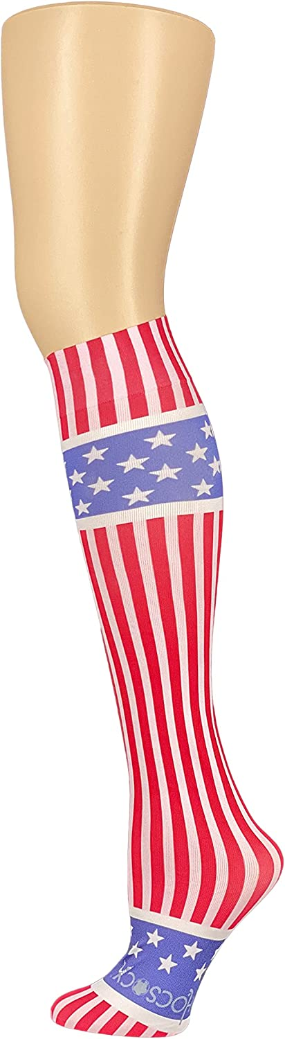 HOCSOCX Boys/Mens Sports Performance UNDER Socks - 10 Colors (MEDIUM/LARGE, Red, White, and Blue)
