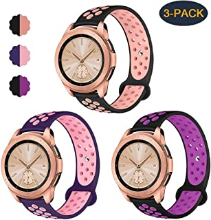 Valband Compatible Samsung Galaxy Watch (42mm) Band/Galaxy Watch Active (40mm) Bands, Soft Silicone 20mm Watch Band Replacement Sport Strap Wristband for Women Men