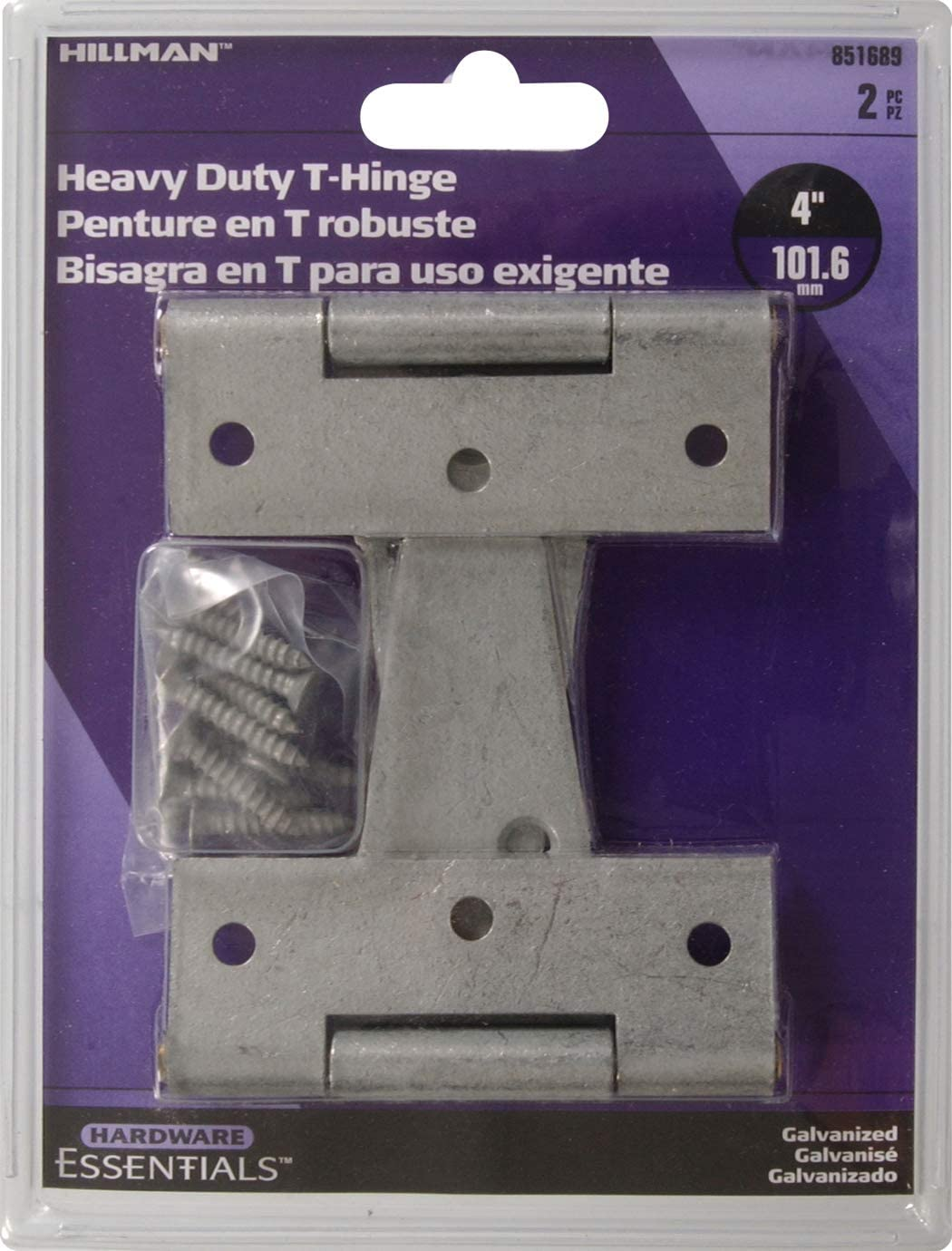 Hillman Hardware Essentials 851689 Duty excellence Selling Galvanize Heavy T-Hinges