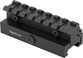 Monstrum Lockdown Series Adjustable Height Picatinny Riser Mount with Quick Release   3.5 inch