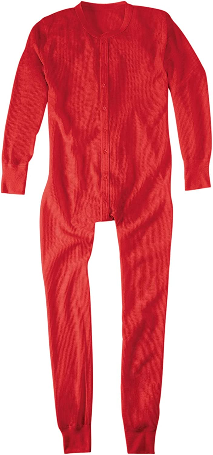 Hanes Men's Thermal Union Suit (Red S)