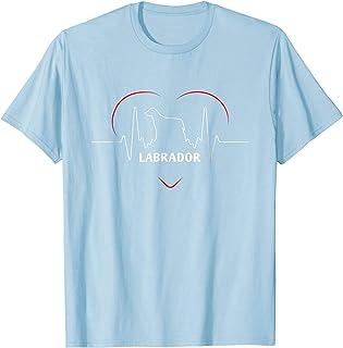 Funny Labrador Retriever T Shirt Labrador Silhouette Heartb