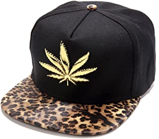 8b8eea0fc4d MCSAYS New Gold Plated Marijuana Hip Hop Cotton Unisex Baseball Cap Hats  Snapback