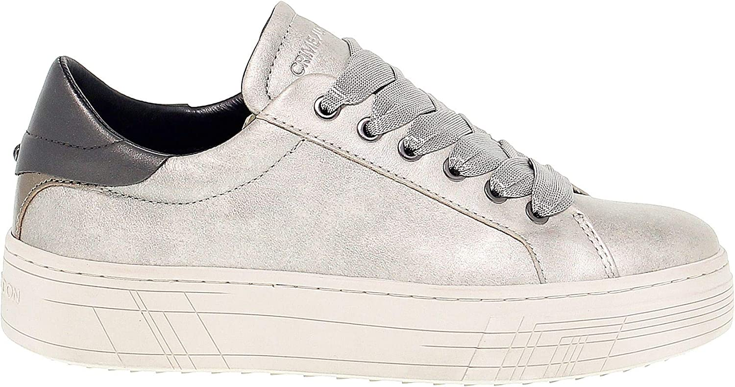 Crime London Women's 25341 Silver Leather Sneakers