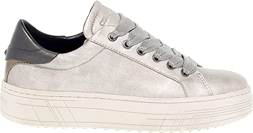 Crime London Femme 25341 Argent Cuir Baskets