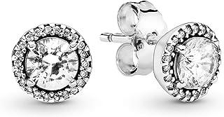 comprar comparacion Pandora Pendientes de botón Mujer plata - 296272CZ