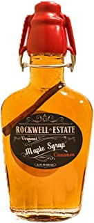 Rockwell Estate Maple Syrup - CINNAMON Infused Premium Grade A - Amber Maple Syrup, 100% Pure, Natural, Kosher (Cinnamon, 8.5oz)