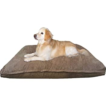 Dogbed4less Jumbo Orthopedic Extreme Comfort Memory Foam Pet Bed Pillow, Waterproof Lining and Machine Washable Cover for Large to Extra Large Dog