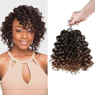 "MULTI PACK DEALS! AU-THEN-TIC FreeKalon Synthetic Hair Crochet Braids Curl Crush Deep Twist 8"" with Free Gift (3-PACK, T1B/BG)"