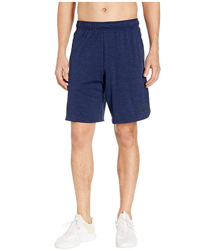 Nike Dri-FIT Heathered 9 Training Short (Blue Void/Black) Men