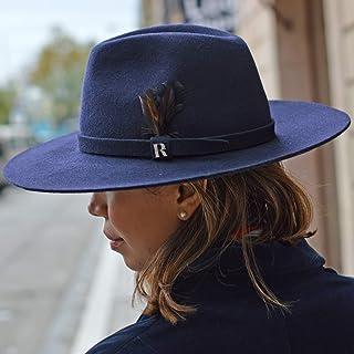 RACEU ATELIER Sombrero Salter Azul Marino Raceu Atelier - 100% Fieltro de  Lana - Resistente 6f9fdfcf0ad