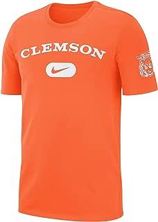 Nike Men's Clemson Tigers Heavyweight Cotton Retro T-Shirt - Orange