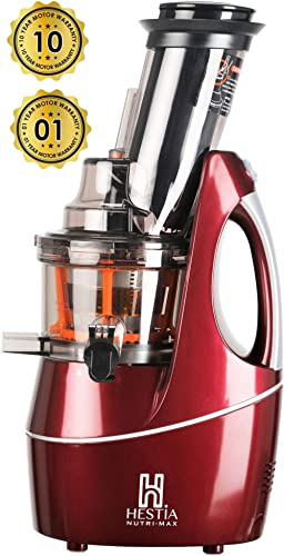 Hestia Appliances Nutri-Max Cold Press Juicer (Wine Red)
