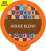 Double Donut Gourmet Dark Roast Coffee, in Recyclable Single Serve Cups for use with all Keurig K-Cups Brewers, 80 Count (House Blend)