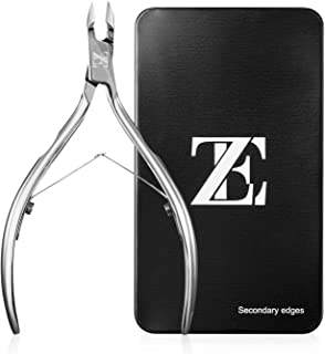 EZVOV Cuticle Trimmer - Professional Surgical Grade Super Sharp Blade Cuticle Nippers Stainless Steel Nail Clippers Pedicure Manicure Tool - Double Spring