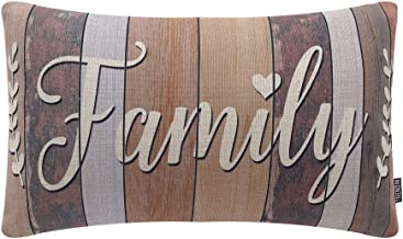 TRENDIN 20 X 12 Vintage Family Word Linen Cushion Cover Throw Pillow Case Sofa PL148TR