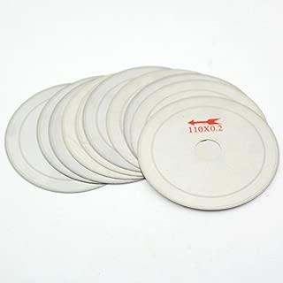 ILOVETOOL 110mm Thin Edge Arbor 20mm Rim 0.25mm Diamond Saw Blades Cut Off for Angle Grinder Pack of 10Pcs