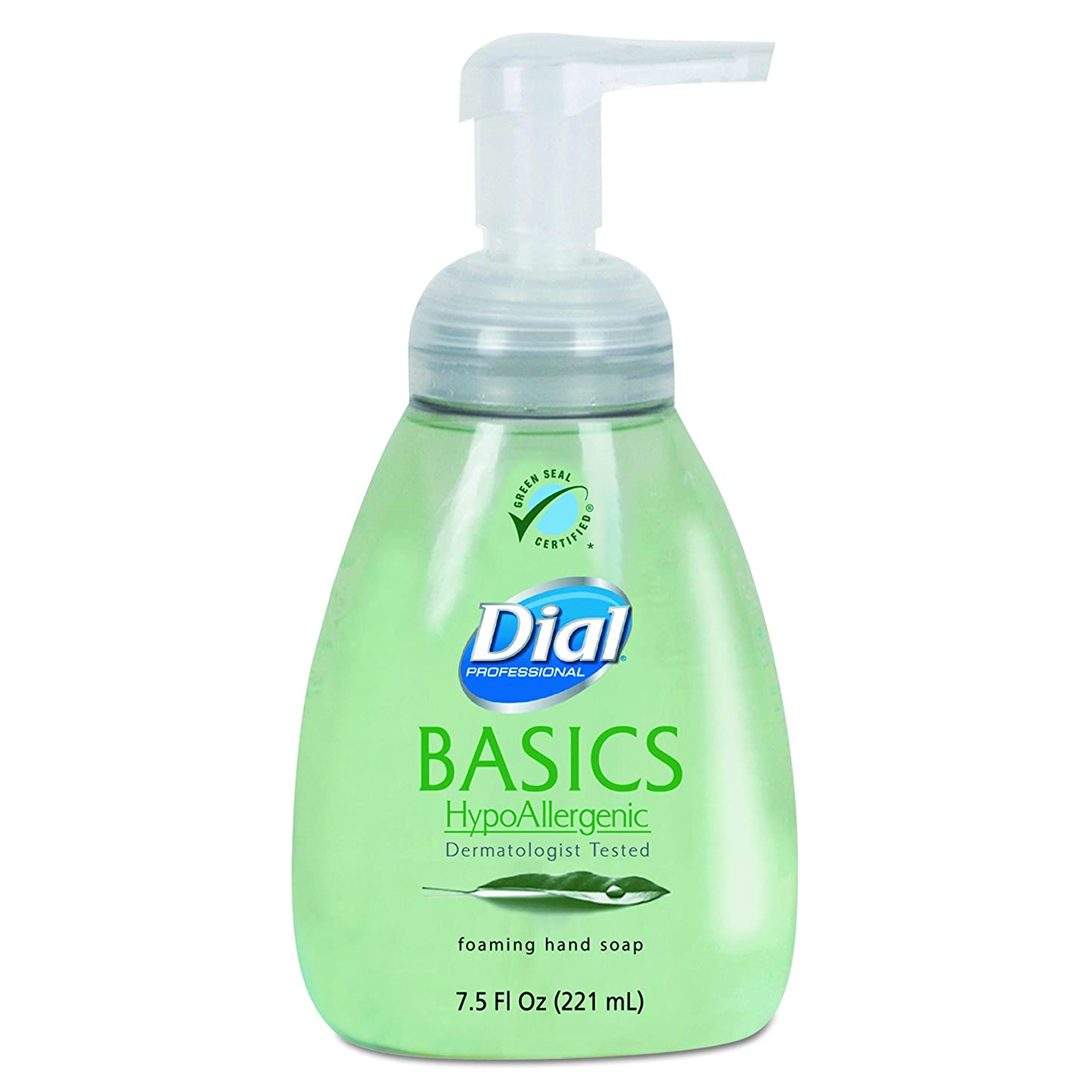 懲らしめ青硬いダイヤルProfessional 6042?Basics Foaming Hand Soap、7.5?Oz、Honeysuckle