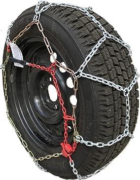 TireChain.com P215/75R14 P225/70R14 P235/60R14 P195/75R15 P205/70R15 P205/75R15 P215/65R15 P225/60R15 P205/65R16 P215/55R16 P215/60R16 P235/50R16 P215/50R17 Diamond Tire Chains Set of 2: image