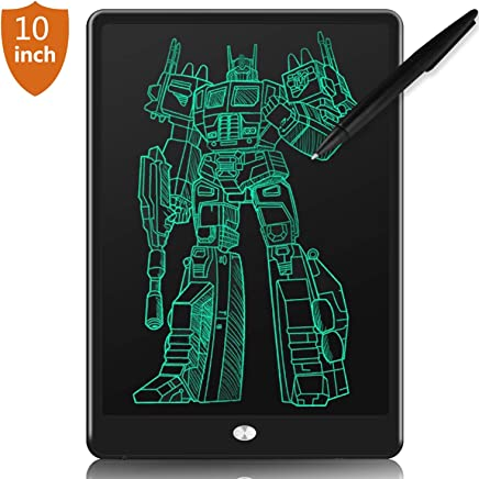 LCD Writing Tablet, 10'' Electronic Writing & Drawing Board Doodle Board for Kids & Adults, Handwriting Paper Doodle Pad with Smart Stylus & Memory Lock for Home, School and Office