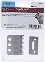 Wahl Professional Adjusto-Lock (1mm - 3mm) Clipper Blade #1005 - Great for Professional Stylists and Barbers - Includes Oil, Screws & instructions