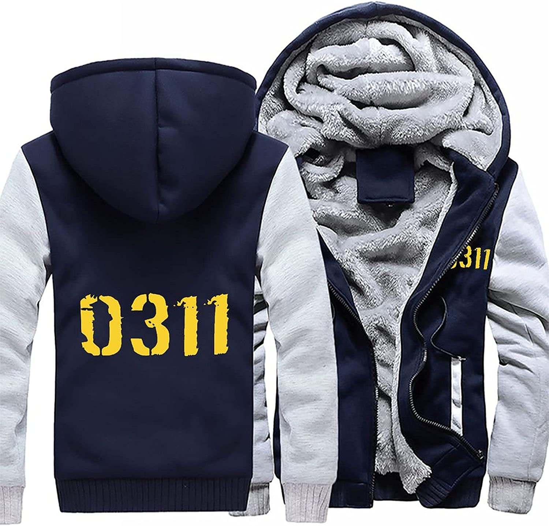 0311 Men's Pullover Winter Workout Popular standard Warm Hoodie Fleece Wool Chicago Mall