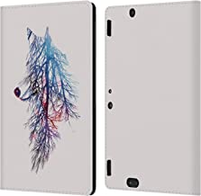 Official Robert Farkas My Roots Animals 2 Leather Book Wallet Case Cover Compatible for Amazon Kindle Fire HDX 8.9