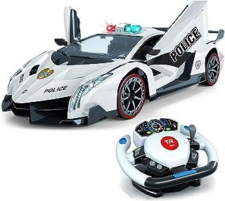 Top Race Op afstand bestuurde RC-politieauto TR-911, 4D-beweging met zwaartekracht en stuurbediening, schaal 1: 12, 2,4 GH...