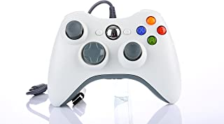 Game Controller Gamepad USB Wired Shoulders Buttons Improved Ergonomic Design Joypad Gamepad Controller For Microsoft Xbox & Slim 360 PC Windows 7(White)