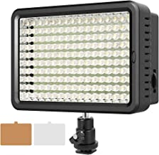 ESDDI 160 LED Video Light, Camera Panel Light with 160pcs LED Dimmable High Power and 2 Filters for Canon Nikon Pentax Panasonic Sony Samsung and Olympus Digital SLR Cameras
